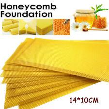 10 X Yellow Beekeeping Honeycomb Wax Frames Foundation Honey Hive Equipment Tool