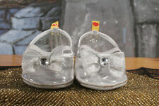 """BABW Silver Clear """"Glass Slippers Cinderella Heels Shoes BUILD-A-BEAR Accessory"""