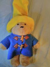 Eden Paddington Bear Plush Yellow Hat Blue Coat