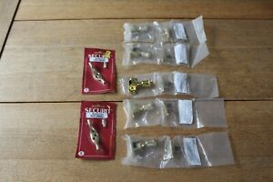 FITMENTS FOR SASH WINDOWS LONDON PATTERN SCREW DOWN FASTENER POLISHED BRASS