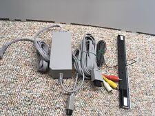 ORIGINAL GENUINE NINTENDO WII AC ADAPTER CHARGER Sensor Bar AV Cable rvl 002