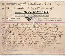 1907 Letterhead M.A. Downey Furniture Carson City NV