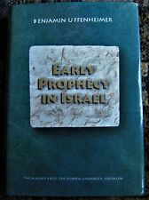 Jewish history book Early Prophecy In Israel by Benjamin Uffenheimer - Judaism