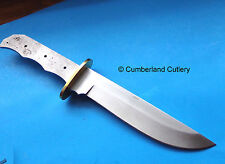 """Large 12"""" Knife Making  Blade Blank with Brass Guard"""