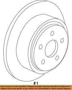 FORD OEM-Disc Brake Rotor 2U2Z1V125AB