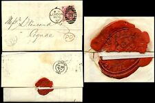 Gb Qv 1872 London Joint Stock Bank Letterhead + Seal 3d Sg103 Plate 7 to Cognac