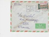 republique de cote d'ivoire 1972 airmail post center stamps cover ref 20418