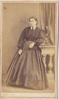 Ritratto Un Donna Da Leon Regimbart Parigi CDV Vintage Albumina Ca