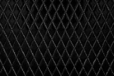 Tessuto Ecopelle Tappezzeria Trapuntata Nero mt. 0.50x1.40-Leather Fabric