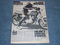 "Kawasaki KZ1000 Vintage Turbo Charger Info Article ""Heavy Horsepower"""