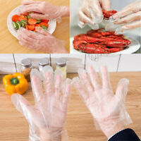 100 x Disposable Clear Plastic Gloves Restaurant Home Service Catering Hygiene