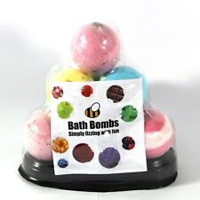 Bath Bomb Pyramid 10 x 65g bath bombs by Bee Beautiful mix of scents (65g - 5cm)