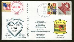 2008 Hewitt Allentown New Jersey - Pearl Anniversary - Collins FDC Hall of Fame