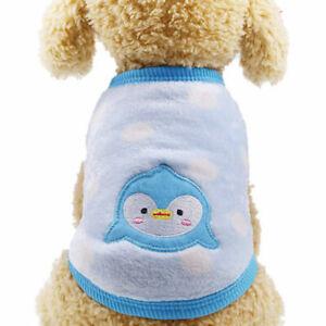 Warm Fleece Small Pet Dog Sweater Shirt Vest Cute Cartoon Puppy Cat Coat Clothes