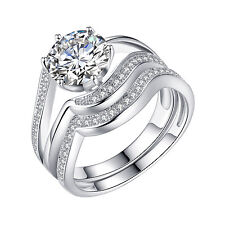 925 Sterling Silver CZ 2.45 Ct Round Women's Wedding Engagement Bridal Ring 7