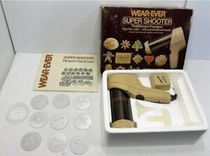 Vintage Wear-Ever Super Shooter Electric Cookie Press Gun Candy Maker 70123