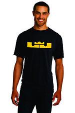 New Mens LJ Crown T-shirt Lebron James Cleveland Cavaliers Cavs S M L XL 2XL 3XL