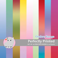 18 Patterned Paper Sq 140mm -Perfectly Printed Craft Paper - Ombre