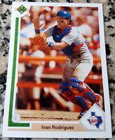 IVAN PUDGE RODRIGUEZ 1991 Upper Deck Rookie Card RC LOT 2003 World Series Champs