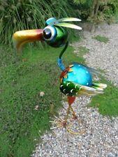 Paradiesvogel Dodo 61 cm Metallfigur Vogel Gartenfigur Gartendeko Handarbeit