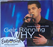 CD PROMO EUROVISION FINLAND 2005 Geir Rönning - Why