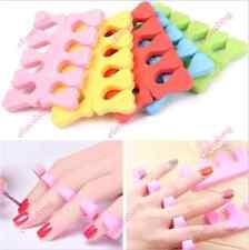 20x Soft Sponge Finger Toe Separator Nail Art Salon Pedicure Manicure Tool ECAD