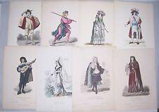 13 Blätter für Kostümkunde Franz Lipperheide Berlin um 1900 Kostüme costumes !
