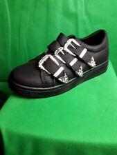 NEW ladies shoes black 3 buckle sizes 3-8 UK