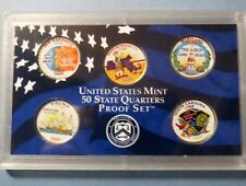 """**2000 STATE QUARTERS COLORIZED, LOT of (5) UNCIRCULATED """"Work of Art"""" COINS"""