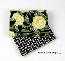 Beautiful Vera Bradley 100% Cotton Fabric(La Neon Rose)——2 Matching Fat Quarters