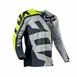 FOX Mens Downhill Jersey Long Sleeve Shirt Racing Off-Road Mountain Bike Jersey