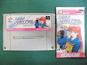 SNES -- Tokimeki Memorial Densetsu no Ki -- Can save. Japan game. 15809