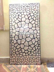 Dining Marble Table Top Inlay Beautifully Seashell Gemstone Precious Arts H3348