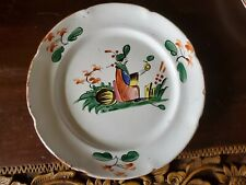"""Antique 18th century French Faience Plate featuring """"Chinese Decor"""""""