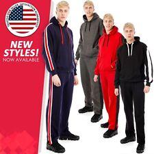 Mens Full Tracksuit Jogging Top Bottoms Fleece Hoodie Sweatshirt Joggers Outfits