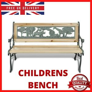 Garden Bench Wooden Park Bench Seat Love Seat Patio Porch Seating Outdoor Furnit