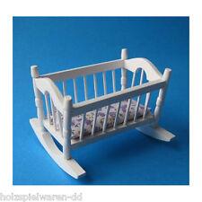 1//12 dollhouse miniature in legno bianco Asili culla lettino B6B4