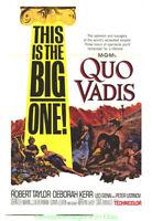 QUO VADIS MOVIE POSTER Original 27x41 Folded R1964 ROBERT TAYLOR DEBORAH KERR