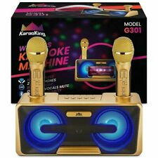 KaraoKing Karaoke Machine 2 Wireless Karaoke Microphone Bluetooth Compatible