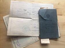 Militärpaß Urkunde EK2 Füßilier-Reg 36