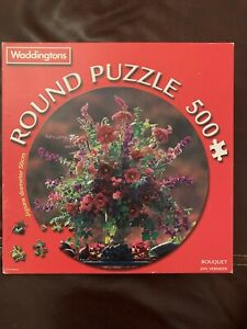 Waddingtons Round Jigsaw Puzzle Bouquet 500 Pieces By Jan Vermeer 50 CM