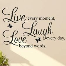 LIVE LAUGH LOVE Quote Wall Stickers Home Decor DIY Vinyl Art Mural Decal Room JG