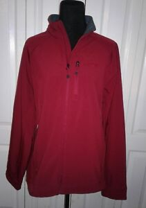 Orvis Trout Bum Softshell Zippered Jacket Burgundy Sz L Mint Condition