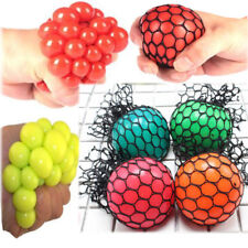 1Pcs Anti-Stress Mesh Stress ball Grape Squeeze Sensory Fruity Toys Squishy