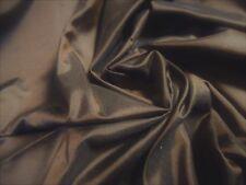 """Silk Tissue Taffeta~Chocolate Brown~9""""x22""""~Do ll Fabric~Miniatures"""