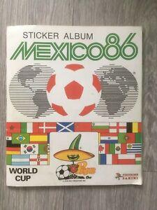 PANINI MEXICO 86 Football Sticker Album Full Set Complete Rare Panini Album