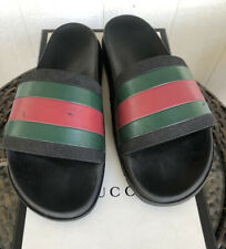 Gucci 'Pursuit 72' Trek Web Pool Slide Sandals Black/Red/Green 11 G/US12 ,270$+