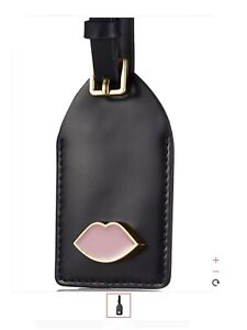 lulu guinness Pink Lips Luggage Tag
