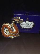 ROYAL CROWN DERBY IMARI PAPERWEIGHTS COLLECTION DRAGON IN ORIGINAL BOX