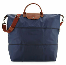 Longchamp Expandable Le Pliage Travel Bag Duffel Tote ~NIP~ Navy